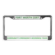 Fort Worth CERT License Plate Frame