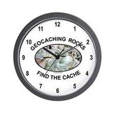 Geocaching Rocks Wall Clock