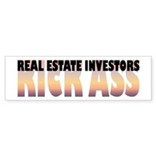 Real Estate Investors Kick Ass Bumper Bumper Sticker