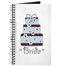Bride Wedding Cake Blue Brown Wedding Organizer
