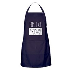 Hello Friday Apron (dark)