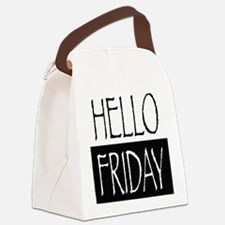Hello Friday Canvas Lunch Bag