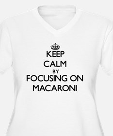 Keep Calm by focusing on Macaron Plus Size T-Shirt