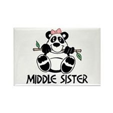 Cute Panda Middle Sister Rectangle Magnet