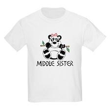 Cute Panda Middle Sister T-Shirt