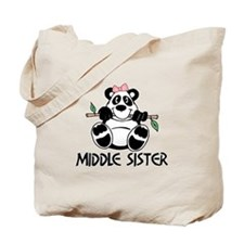 Cute Panda Middle Sister Tote Bag