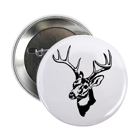 """8 Point Buck - Whitetail 2.25"""" Button (100 pack)"""