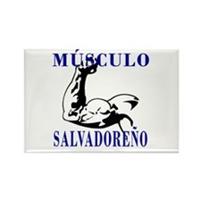 Músculo Salvadoreño Rectangle Magnet