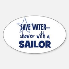 Save Water Oval Decal