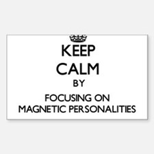 Keep Calm by focusing on Magnetic Personal Decal