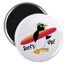 Surf's Up! Penguin Magnet