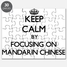 Keep Calm by focusing on Mandarin Chinese Puzzle