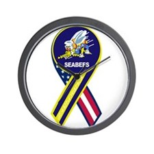 seabees_navy_patch.png Wall Clock