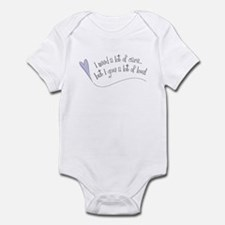 I Need Care/ Give A Lot of Love Infant Bodysuit