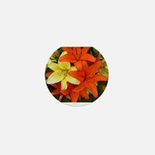 Orange And Yellow Flowers Mini Button