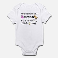 Bryson had a Farm Infant Bodysuit