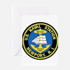 NEWPORT US Naval Station Rhode Isla Greeting Cards