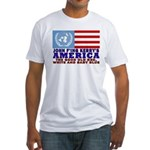UN American Anti-John Kerry Fitted T-Shirt