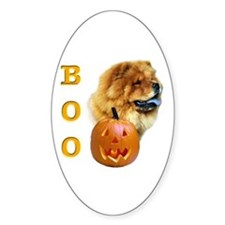 Chow Chow Boo Oval Decal