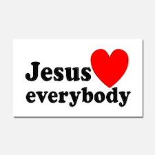 Jesus loves everybody Car Magnet 20 x 12