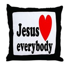 Jesus loves everybody Throw Pillow