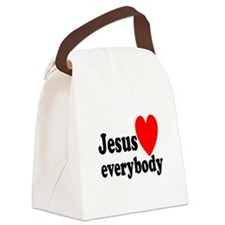 Jesus loves everybody Canvas Lunch Bag