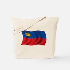 Wavy Liechtenstein Flag Tote Bag