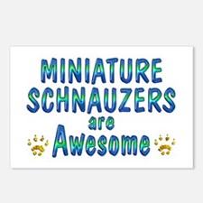 Miniature Schnauzers Postcards (Package of 8)