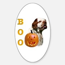 Clumber Boo Oval Decal