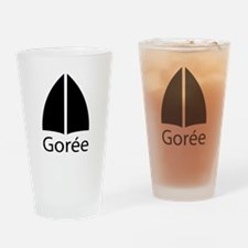 Gorée en noir - Drinking Glass