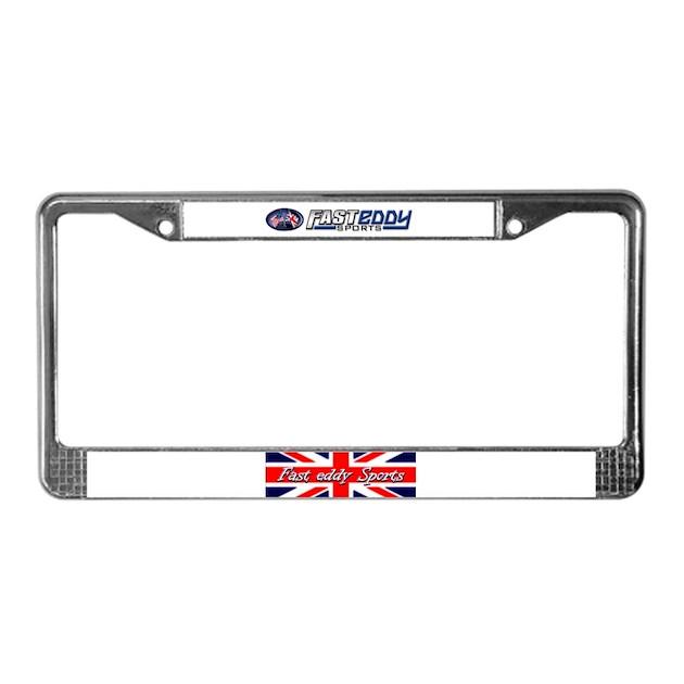 fast eddy sports/triumph license plate framefes