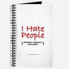 I Hate People (Included) Journal