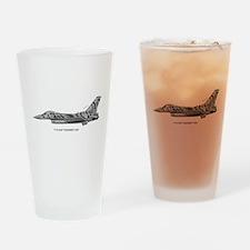 usafTiger01.jpg Drinking Glass