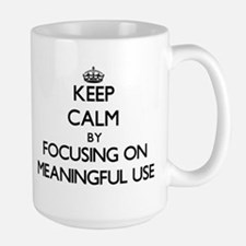Keep Calm by focusing on Meaningful Use Mugs
