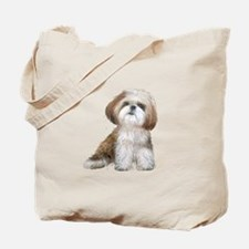 Shih Tzu (red-Wte) Tote Bag