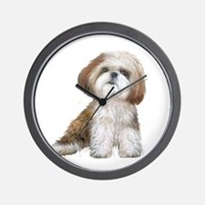 Shih Tzu (red-Wte) Wall Clock
