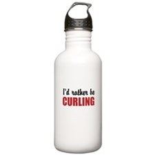 I rather be curling Water Bottle