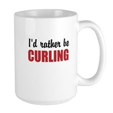 I rather be curling Mugs