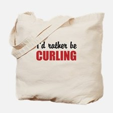 I rather be curling Tote Bag