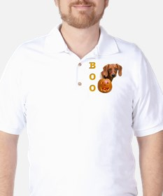 Smooth Dachshund Boo Golf Shirt
