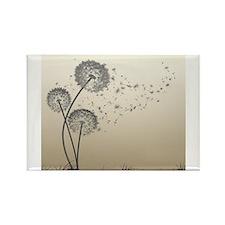 Cute Dandelion flower seed Rectangle Magnet