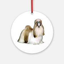 Shih Tzu (show) Ornament (Round)