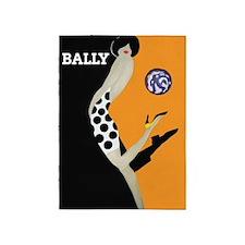 Bally Fashion; Vintage Art 5'x7'area Rug