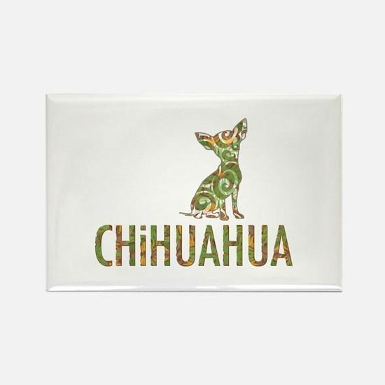 Camo Chihuahua - Rectangle Magnet