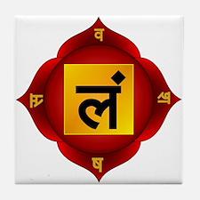 Muladhara Root Chakra Tile Coaster