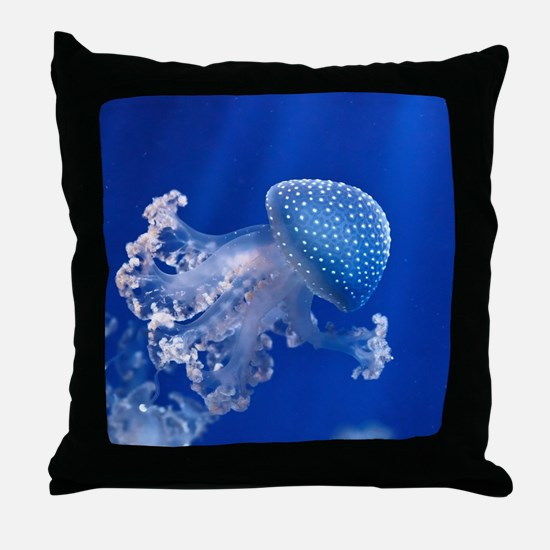 Phyllorhiza Punctata Throw Pillow