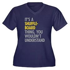 Its A Shuffl Women's Plus Size V-Neck Dark T-Shirt