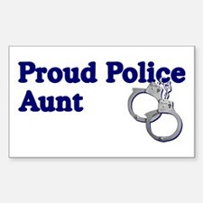 Police Aunt Cuffs Rectangle Decal