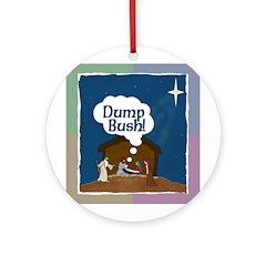 "Jesus Says ""Dump Bush!"" Tree Ornament"