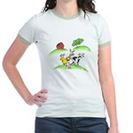 farm animals Jr. Ringer T-Shirt